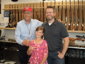Gun Rights Advocate, Dick Heller of DC vs. Heller Supreme Court Case, pictured with Alex and Ashley of Patriot Pawn & Gun.